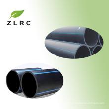 2017 ventas al por mayor China fabricación de alta calidad 4 pulgadas Hdpe pipa con rayas azules