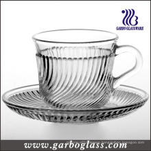 180ml Cheap Glass Cup and Saucer