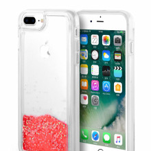 Rood glinsterende Quick Sand iPhone6 ​​Plus hoesje