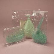 Transparent PVC Vinyl Bags With Zipper Slider