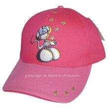 Sombrero de béisbol de la tela cruzada del algodón de los niños con los diseños de la historieta
