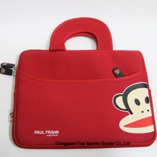 Free sample for for Full Color Ipad Bag Neoprene laptop tote bags with paul frank export to South Korea Manufacturers