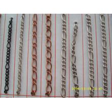 Fornecedor da corrente da porcelana venda por atacado da forma corrente do metal da prata para a bolsa do saco