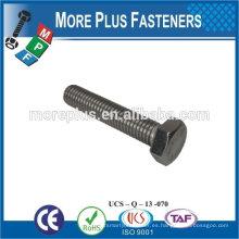 Hecho en Taiwán alta calidad de acero al carbono máquina de tornillo hexagonal tornillo cabeza hexagonal tornillo