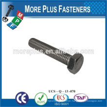 Made in Taiwan high quality carbon steel machine screw hexagon screw hex head screw