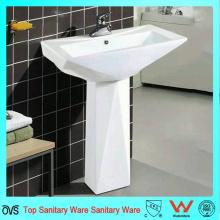 Lavabo de pedestal de baño de porcelana