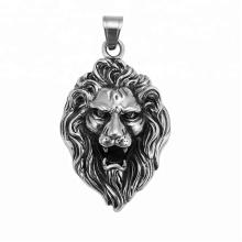 33410 xuping 2018 vente chaude pistolet noir couleur acier inoxydable bijoux tête de lion croix pendentif