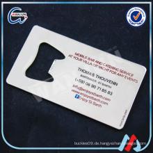 Blank print logo Metall Visitenkarten Herstellung