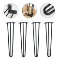 Wrought Iron Metal Hairpin Outdoor Table Leg