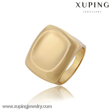 12819 China Großhandel Xuping Fashion Elegante 18 Karat Gold Perle Frau Ring