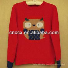 12STC0696 Eule verziert Pullover Designs für Frauen