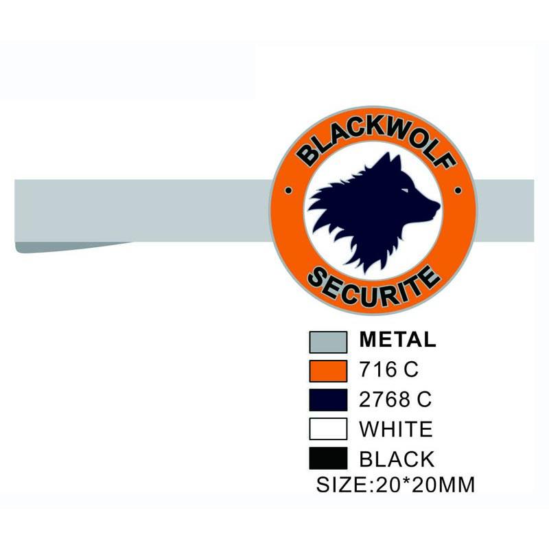 Personalized Blackwolf Securite Mens Tie Clip
