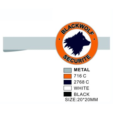 Spersonalizowane spinki do krawata Blackwolf Securite Mens