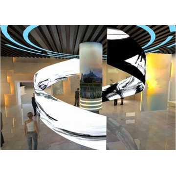 Flexible Advertising Display Curved  Indoor LED Poster
