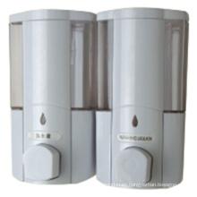 Dispensador de jabón de pared de plástico líquido blanco de alta calidad de 400 ml * 2