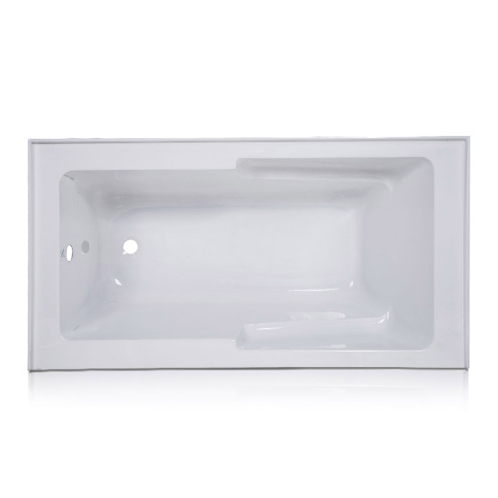 Avenue Alcove Bathtub with Left and Right Hand Drain