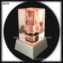 Patrioten Hall des Ruhmes 3d Laser eingraviert Kristall souvenirs