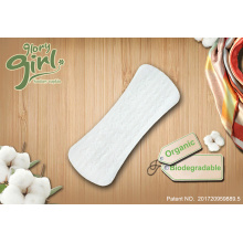 Natural organic cotton pantyliners for private label