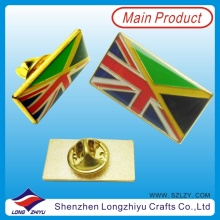 Enamel Gold Plated British Flag Epoxy Pin Badge