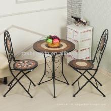 Mobiliário de jardim profissional mesa de mosaico de jardim