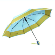 Border&Edged Solid Fold Open&Close Umbrellas (YS-3FD22083967R)