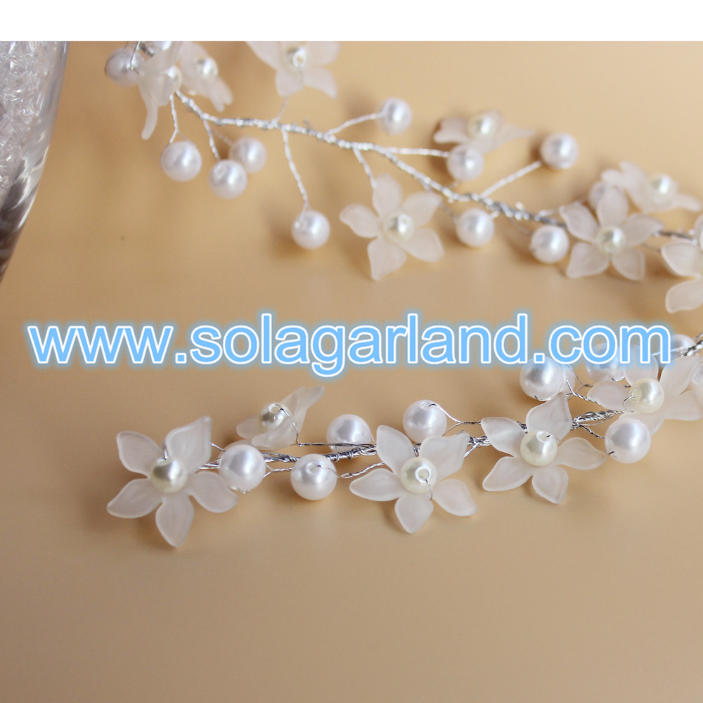 wire pearl beaded branch
