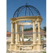 Mármol de piedra jardín Gazebo tienda para muebles de exterior (gr068)