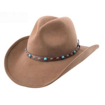 Chapeau en feutre à manches courtes style cowboy avec big brim (CW0006 / 08)