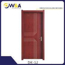 Portes intérieures imperméables à l'eau WPC à l'eau Fabricant pour Chambre à coucher Salle de bain