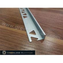 Perfis de Alumínio L Forma Tile Edge Trim com Altura 10.5mm e Matt Silver Cor