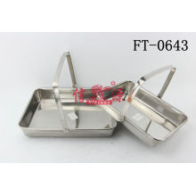 Stainless Steel Handle Towel Tray (FT-0643)