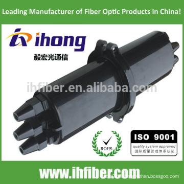 Fermeture d'épissure en fibre optique à 3 po / 3 po en extérieur