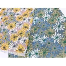 Conception de style d'encre avec tissu imprimé en lin de coton