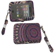 Retro and Fashionable Canvas Cellphone Wallet Cases, Various Colors and Sizes are Available