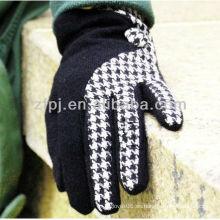 Venta al por mayor houndstooth guante de lana fábrica