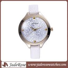 Reloj de pulsera impermeable con correa de cuarzo ultra delgado