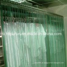 Cortina plástica transparente do PVC para exterior