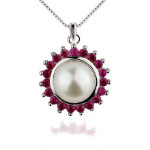 Snh 9.5-10mm Within Chain Single Freshwater Pearl Pendant