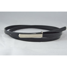 ladies shinny thin PU belt for dressing