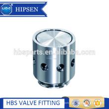Válvula de liberação de ar rápido de aço inoxidável sanitário