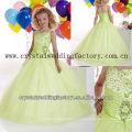 El envío libre rebordeó el vestido barato sequined del desfile de la niña de la falda del vestido de bola CWFaf5229