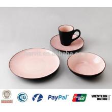 Crackle Glaze Dinnerware 16pc Ensemble de vaisselle en grès