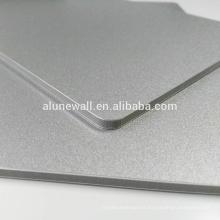 Incombustible 2-15mm metal plata compuesto de aluminio panel venta caliente acp