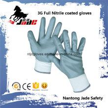 13G voller Gary Nitril glatter überzogener Handschuh