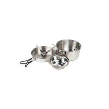 9 piezas de acero inoxidable para cocinar juegos de utensilios de camping