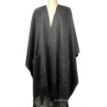 100% cachemira poncho damas moda mantón