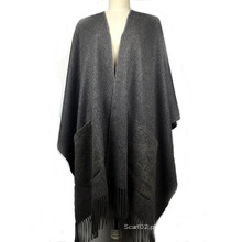 100% Cashmere Poncho Ladies Fashion Shawl