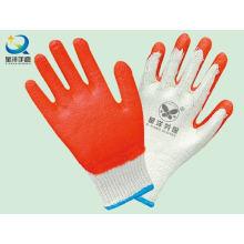 Latex Palm Coated Work Gloves, Acabamento suave