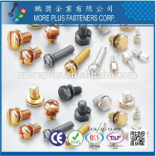 Feito em Taiwan Indent Hex Washer Flange Pan Head Screws e personalizar Spring Washers Assembleed SEMS Screws