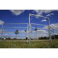 Panneau de clôture soudé revêtu de PVC / Panneau de clôture temporaire / Panneau de clôture en poutre en fer forgé